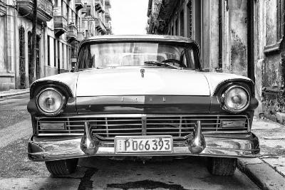 Cuba Fuerte Collection B&W - Vintage Cuban Ford II-Philippe Hugonnard-Photographic Print