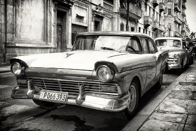 Cuba Fuerte Collection B&W - Vintage Cuban Ford III-Philippe Hugonnard-Photographic Print