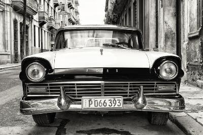 Cuba Fuerte Collection B&W - Vintage Cuban Ford-Philippe Hugonnard-Photographic Print