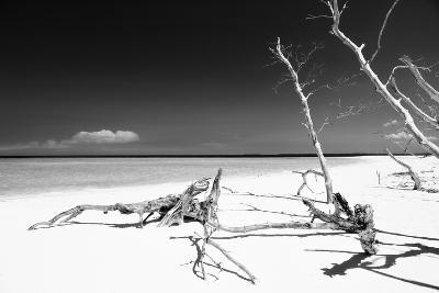 Cuba Fuerte Collection B&W - White Beach-Philippe Hugonnard-Photographic Print
