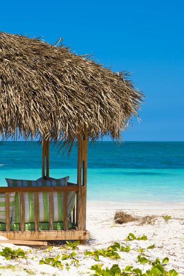 Cuba Fuerte Collection - Beach Hut II-Philippe Hugonnard-Photographic Print