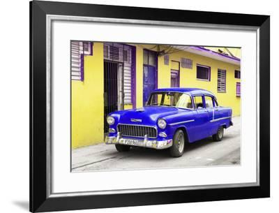 Cuba Fuerte Collection - Beautiful Classic American Blue Car-Philippe Hugonnard-Framed Photographic Print