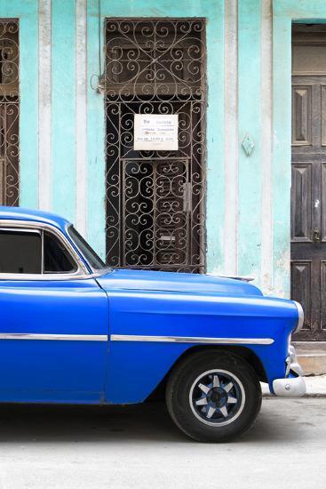 Cuba Fuerte Collection - Blue Classic Car-Philippe Hugonnard-Photographic Print