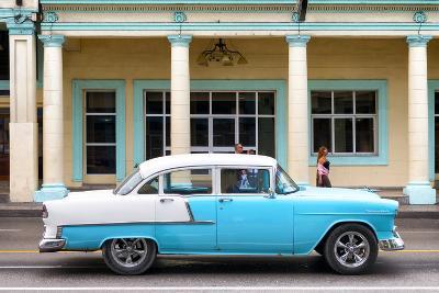 Cuba Fuerte Collection - Blue Vintage Car-Philippe Hugonnard-Photographic Print