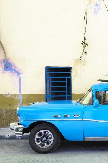 Cuba Fuerte Collection - Classic American Blue Car-Philippe Hugonnard-Photographic Print