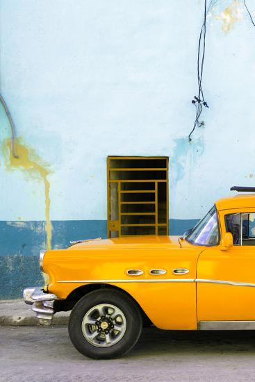 Cuba Fuerte Collection - Classic American Orange Car-Philippe Hugonnard-Photographic Print