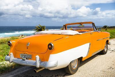 Cuba Fuerte Collection - Classic Orange Car Cabriolet-Philippe Hugonnard-Photographic Print