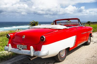 Cuba Fuerte Collection - Classic Red Car Cabriolet-Philippe Hugonnard-Photographic Print