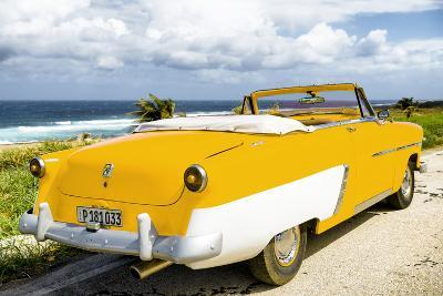 Cuba Fuerte Collection - Classic Yellow Car Cabriolet-Philippe Hugonnard-Photographic Print