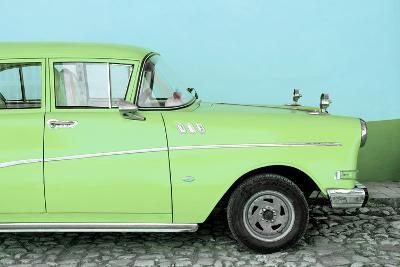 Cuba Fuerte Collection - Close-up of Retro Lime Green Car-Philippe Hugonnard-Photographic Print