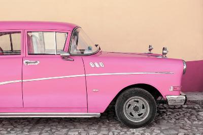 Cuba Fuerte Collection - Close-up of Retro Pink Car-Philippe Hugonnard-Photographic Print