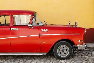 Cuba Fuerte Collection - Close-up of Retro Red Car-Philippe Hugonnard-Photographic Print