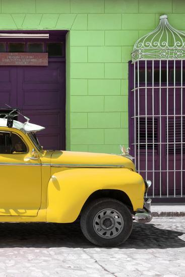 Cuba Fuerte Collection - Close-up of Yellow Vintage Car-Philippe Hugonnard-Photographic Print