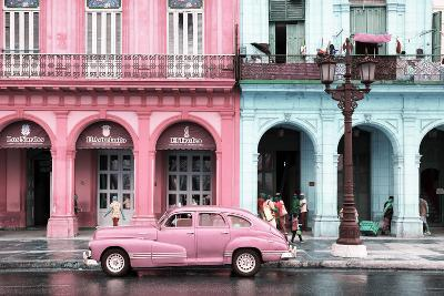 Cuba Fuerte Collection - Colorful Architecture and Pink Classic Car-Philippe Hugonnard-Photographic Print