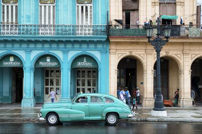 Cuba Fuerte Collection - Colorful Architecture and Turquoise Classic Car-Philippe Hugonnard-Photographic Print