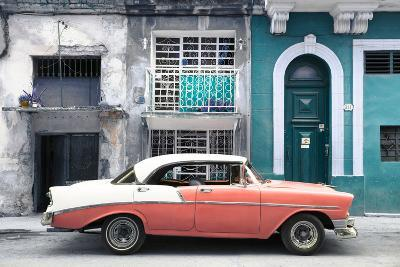 Cuba Fuerte Collection - Coral Classic Car in Havana-Philippe Hugonnard-Photographic Print