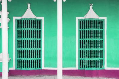 Cuba Fuerte Collection - Coral Green Facade-Philippe Hugonnard-Photographic Print