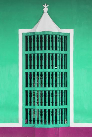 Cuba Fuerte Collection - Coral Green Window-Philippe Hugonnard-Photographic Print