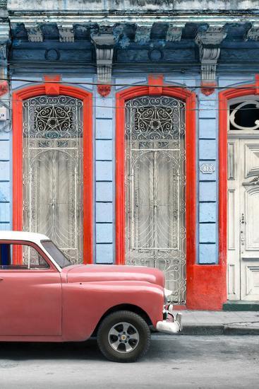 Cuba Fuerte Collection - Coral Vintage Car in Havana II-Philippe Hugonnard-Photographic Print