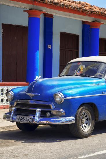 Cuba Fuerte Collection - Cuban Blue Car II-Philippe Hugonnard-Photographic Print