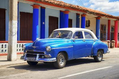 Cuba Fuerte Collection - Cuban Blue Car-Philippe Hugonnard-Photographic Print