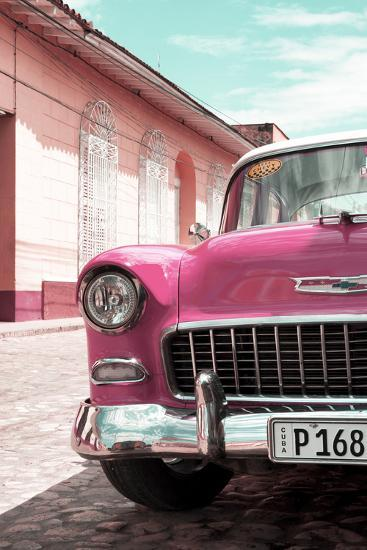 Cuba Fuerte Collection - Cuban Pink Car - 1955 Chevy-Philippe Hugonnard-Photographic Print