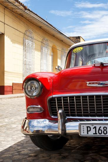 Cuba Fuerte Collection - Cuban Red Car - 1955 Chevy-Philippe Hugonnard-Photographic Print