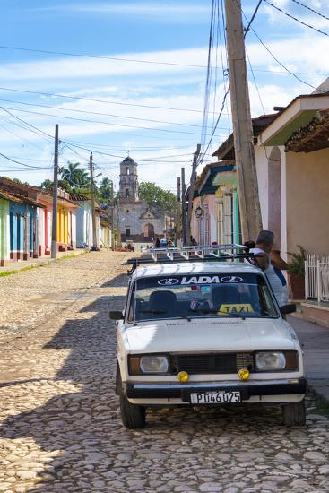 Cuba Fuerte Collection - Cuban Street Scene in Trinidad II-Philippe Hugonnard-Photographic Print