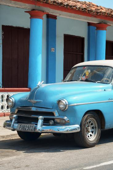 Cuba Fuerte Collection - Cuban Turquoise Car II-Philippe Hugonnard-Photographic Print
