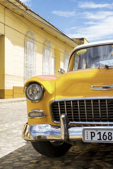 Cuba Fuerte Collection - Cuban Yellow Car - 1955 Chevy-Philippe Hugonnard-Photographic Print
