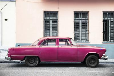 Cuba Fuerte Collection - Dark Pink Car-Philippe Hugonnard-Photographic Print