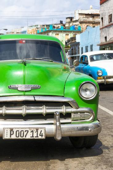 Cuba Fuerte Collection - Green Chevy II-Philippe Hugonnard-Photographic Print
