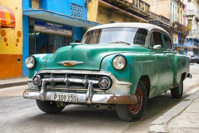 Cuba Fuerte Collection - Green Classic Car-Philippe Hugonnard-Photographic Print