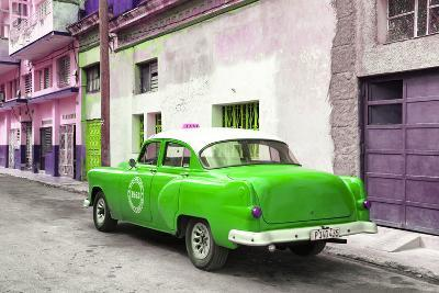 Cuba Fuerte Collection - Green Taxi Pontiac 1953-Philippe Hugonnard-Photographic Print