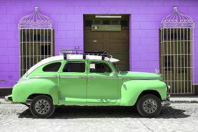 Cuba Fuerte Collection - Green Vintage Car Trinidad-Philippe Hugonnard-Photographic Print