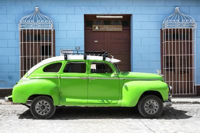 Cuba Fuerte Collection - Green Vintage Car-Philippe Hugonnard-Photographic Print
