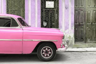 Cuba Fuerte Collection - Havana Pink Car-Philippe Hugonnard-Photographic Print