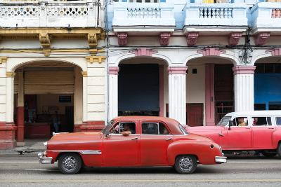 Cuba Fuerte Collection - Havana Red Car-Philippe Hugonnard-Photographic Print