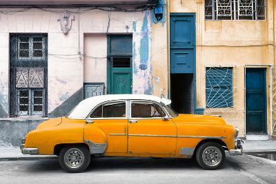 Cuba Fuerte Collection - Havana's Orange Vintage Car-Philippe Hugonnard-Photographic Print