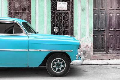 Cuba Fuerte Collection - Havana Turquoise Car-Philippe Hugonnard-Photographic Print