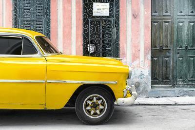 Cuba Fuerte Collection - Havana Yellow Car-Philippe Hugonnard-Photographic Print