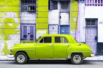 Cuba Fuerte Collection - Lime Green Classic American Car-Philippe Hugonnard-Photographic Print