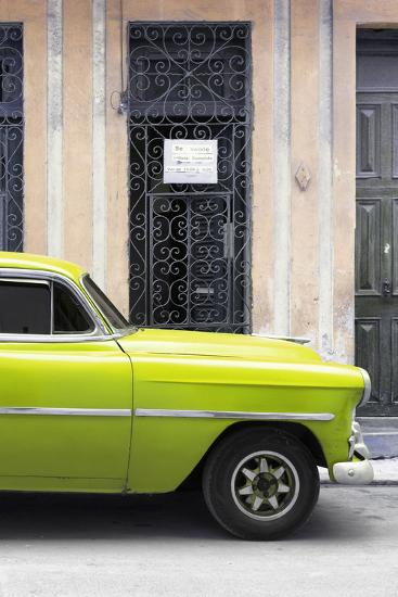 Cuba Fuerte Collection - Lime Green Classic Car-Philippe Hugonnard-Photographic Print