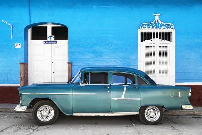 Cuba Fuerte Collection - Old Blue Car-Philippe Hugonnard-Photographic Print