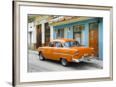Cuba Fuerte Collection - Old Cuban Orange Car-Philippe Hugonnard-Framed Photographic Print