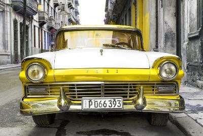 Cuba Fuerte Collection - Old Ford Yellow Car-Philippe Hugonnard-Photographic Print