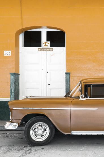 Cuba Fuerte Collection - Old Orange Car II-Philippe Hugonnard-Photographic Print