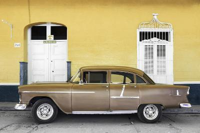 Cuba Fuerte Collection - Old Yellow Car-Philippe Hugonnard-Photographic Print
