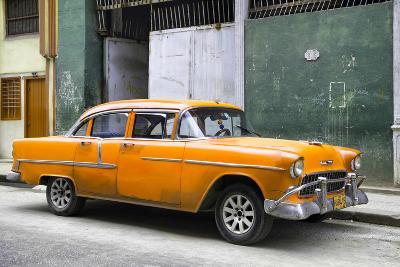 Cuba Fuerte Collection - Orange Chevy-Philippe Hugonnard-Photographic Print