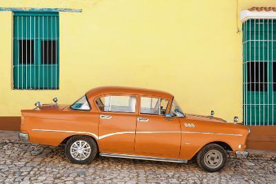 Cuba Fuerte Collection - Orange Classic Car in Trinidad-Philippe Hugonnard-Photographic Print